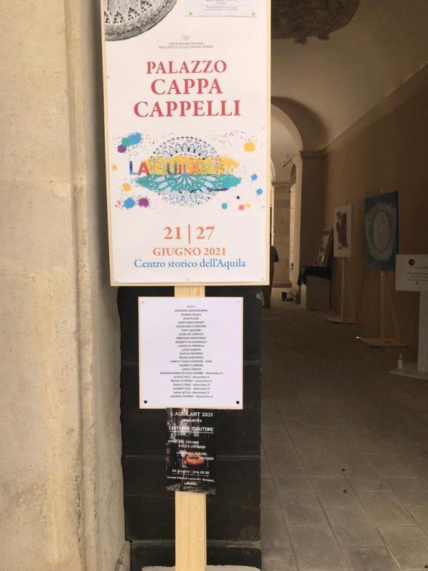 Aquila art 2021 palazzo Cappa Cappelli