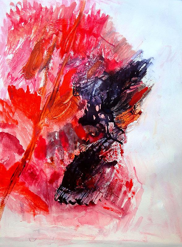 libereastrazioni composizioni-rosso-acqurello-su-carta-tm-2014-50x70