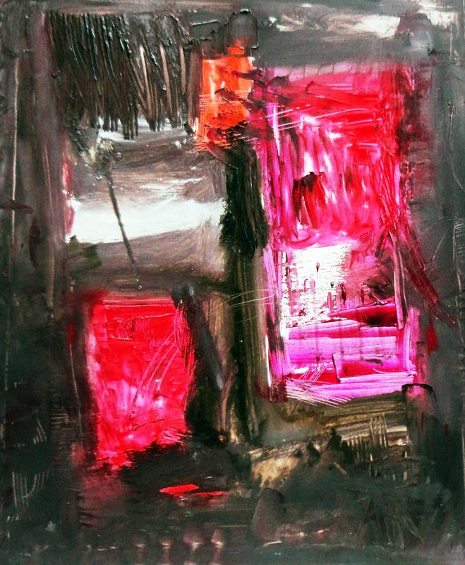 venezia rossi in posizione cm 60x70 tc su tela 2012 mangiacapra